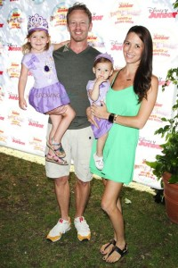 """Ian and Erin Ziering with daughters Mia and Penna at Disney Junior's """"Pirate and Princess Power of Doing Good"""" tour"""