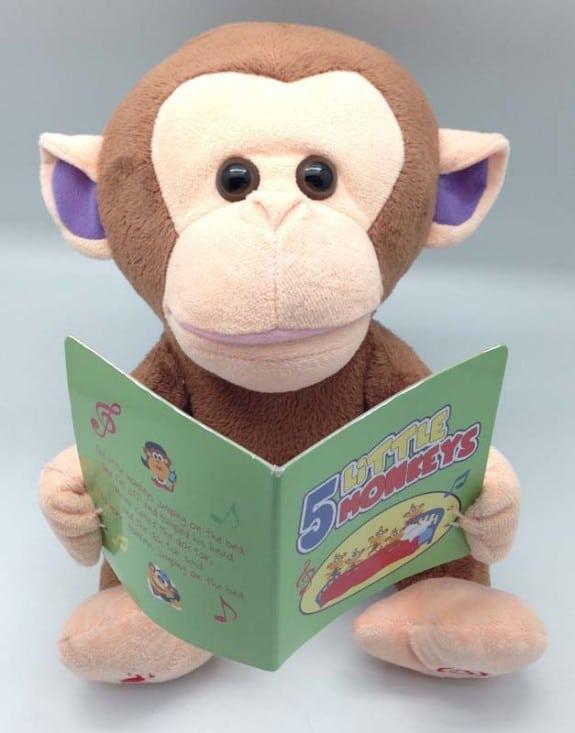 Image of recalled Giggles International Animated Sing-Along Monkey toy