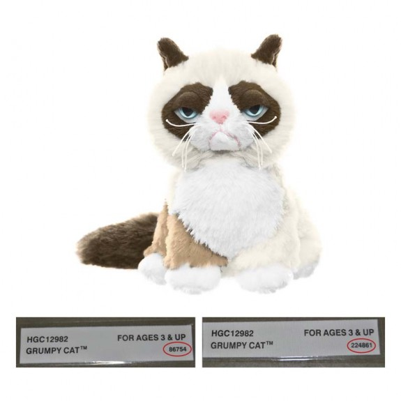"Image of recalled Grumpy Cat 5"" Sitting"