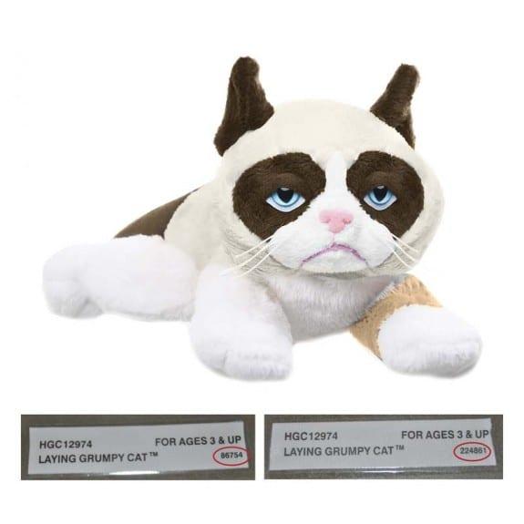 "Image of recalled Grumpy Cat 8"" Laying"
