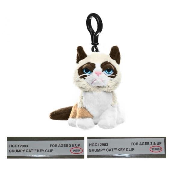 Image of recalled Grumpy Cat Key Clip 2