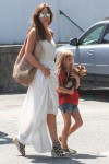 Ingrid Vandebosch  out in the Hamptons with daughter Ella