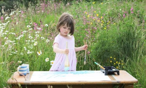 Iris Halmshaw - painting garden studio