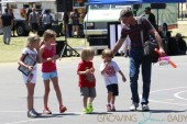 Charlie Sheen's youngest kids, twins Bob and Max and daughters Sam and Lola, enjoy a day of fun at a local fair in Los Angeles