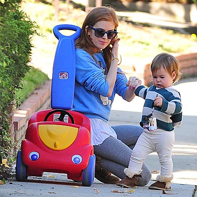 Isla Fisher out with 13 month old daughter Olive Cohen