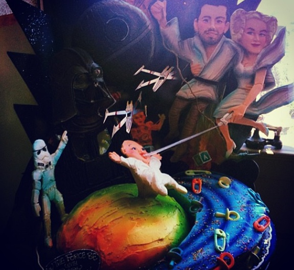Jaime King Baby Shower cake