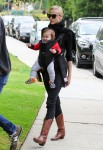 Jamie King with son James at the park in LA