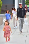 Jason Bateman and wife Amanda Anka out in LA with their daughters Frances and Maple