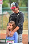 Jason Bateman out in LA with his daughter Frances