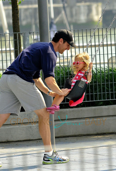 Jason Hoppy Takes Daughter Bryn To The Park