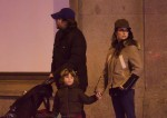 Javier Bardem and Penelope Cruz out in Madrid with kids Leo and Luna