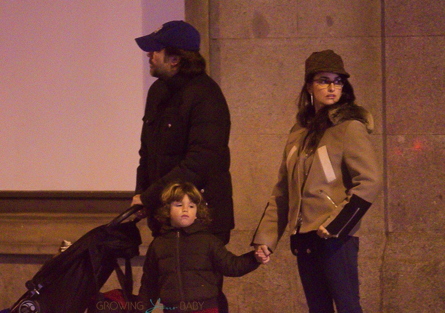 Javier Bardem And Penelope Cruz Out In Madrid With Kids