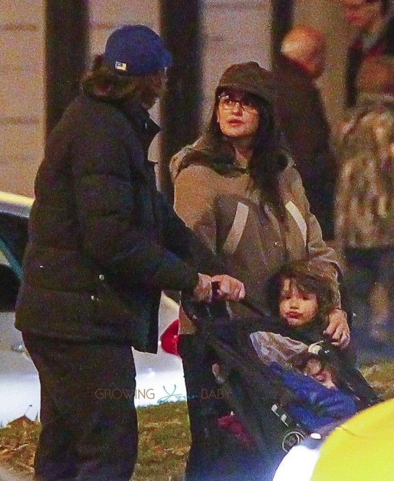 Javier Bardem and Penelope Cruz out in Spain with kids Leo and Luna