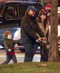 Javier Bardem and Penelope Cruz out with kids Leo and Luna