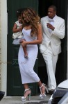 Jay Z and Beyonce with Daughter Blue Ivy after sister Solange's wedding