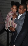 Jay Z leaving the Annie Premiere with daughter Blue Ivy Carter