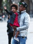 Jay Z out in Paris with daughter Blue Ivy