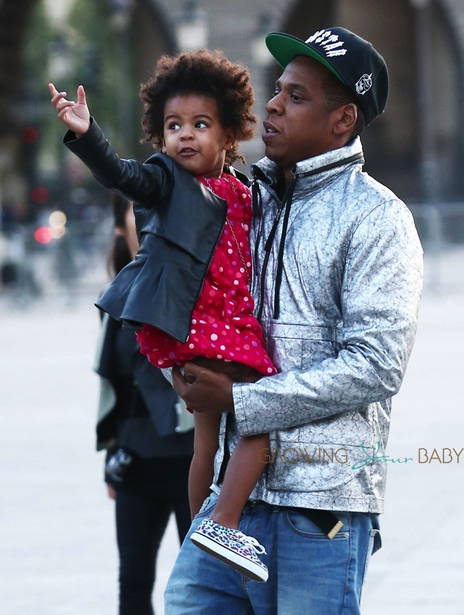Jay Z Out In Paris With Daughter Blue Ivy Growing Your Baby