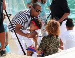 Jay-z and Beyonce with daughter Blue Ivy on vacation in France