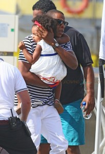 Jay-z with Blue Ivy on vacation in France