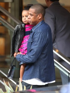 Jayz And Blue Ivy Carter out shopping in LA