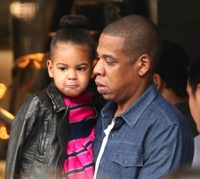 Jay Z & Beyonce Shop With Blue In Beverly Hills