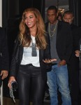 Jayz and Beyonce leave Leaving The Arts Club in London