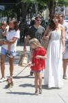 Jeff Gordon and Ingrid Vandebosch with kids Ella and Leo out in the Hamptons