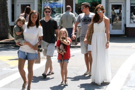 Jeff Gordon His Family Spend The Day In East Hamptons