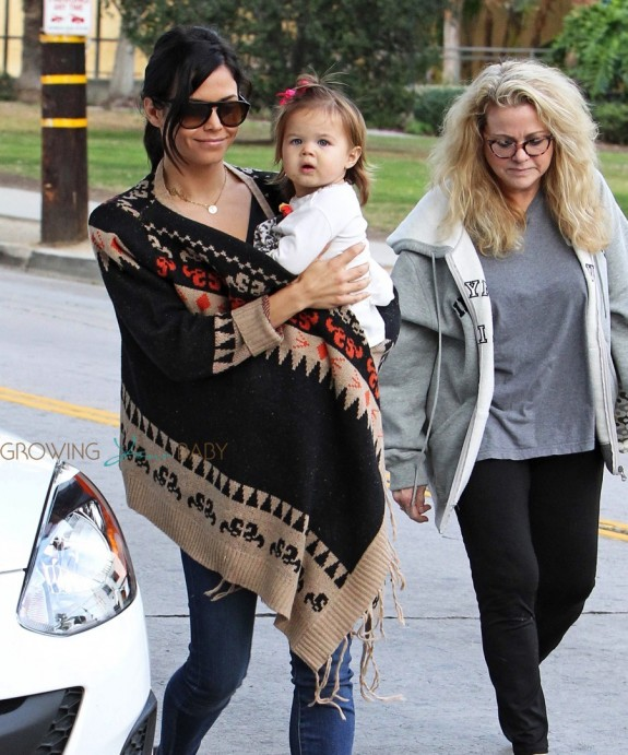 Jenna Dewan Tatum at the park with her daughter Everly Tatum