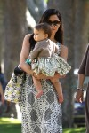 Jenna Dewan at mommy and me class with daughter Everly