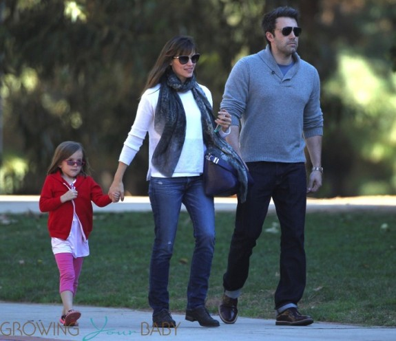 Jennifer Garner and Ben Affleck at the park with their daughter Seraphina
