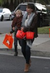 Jennifer Garner and Samuel Affleck out for Halloween 2013