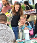 Jennifer Garner and Ben Affleck spend quality time with their children at the Farmer's Market