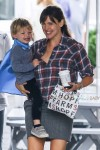 Jennifer Garner at the Brentwood Country Market with son Sam