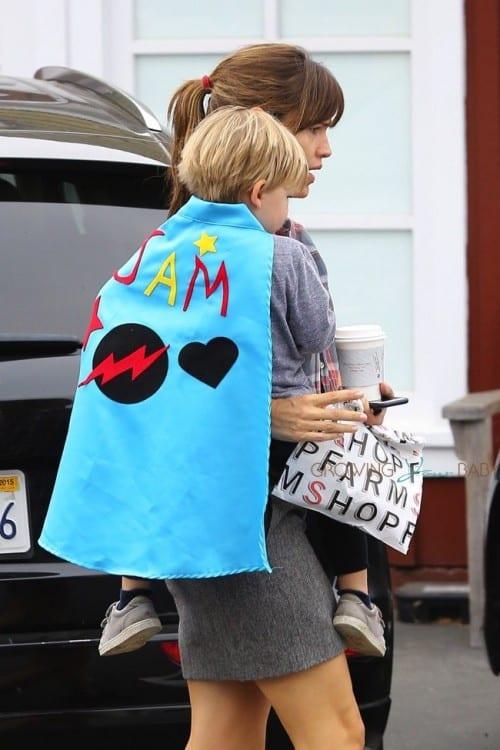 Jennifer Garner at the Brentwood Country Market with son Sam Affleck