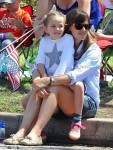 Jennifer Garner with daughter Seraphina at 4th of July Parade in Pacific Palisades