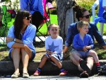 Jennifer Garner with kids Seraphina and Sam at 4th of July Parade in Pacific Palisades