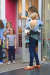 Jennifer Garner with kids Violet,  Seraphina and Samuel out in NYC