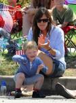 Jennifer Garner with son Sam at 4th of July Parade in Pacific Palisades