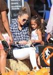 Jennifer Lopez at Mr. Bones pumkin patch with her daughter Emme Anthony