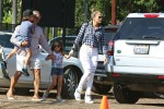 Jennifer Lopez at Mr. Bones pumkin patch with her twins Max and Emme Anthony