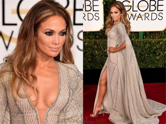 Jennifer Lopez at the 72nd annual Golden Globe Awards