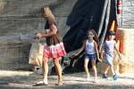 Jennifer Lopez' kids Max and Emme Anthony at Mr. Bones pumpkin patch