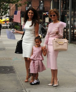 Jennifer Lopez out in NYC with her sister Lynda and daughter  Emma in NYC