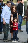 Jennifer Lopez with son Max Anthony on the set of 'The Boy Next Door' in Los Angeles