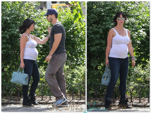 Jennifer Love Hewitt and Brian Hallisay out in NYC