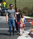 Jessica Alba and Cash Warren out at the park with daughter Haven and Honor