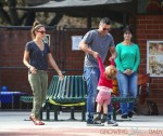 Jessica Alba and Cash Warren visit the park with their daughters Honor and Haven