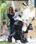 Jessica Alba and Jaime King at the park in LA